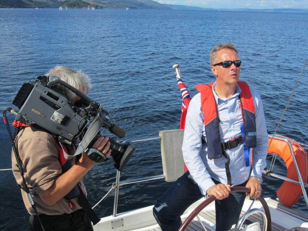 Nick Nairn during filming