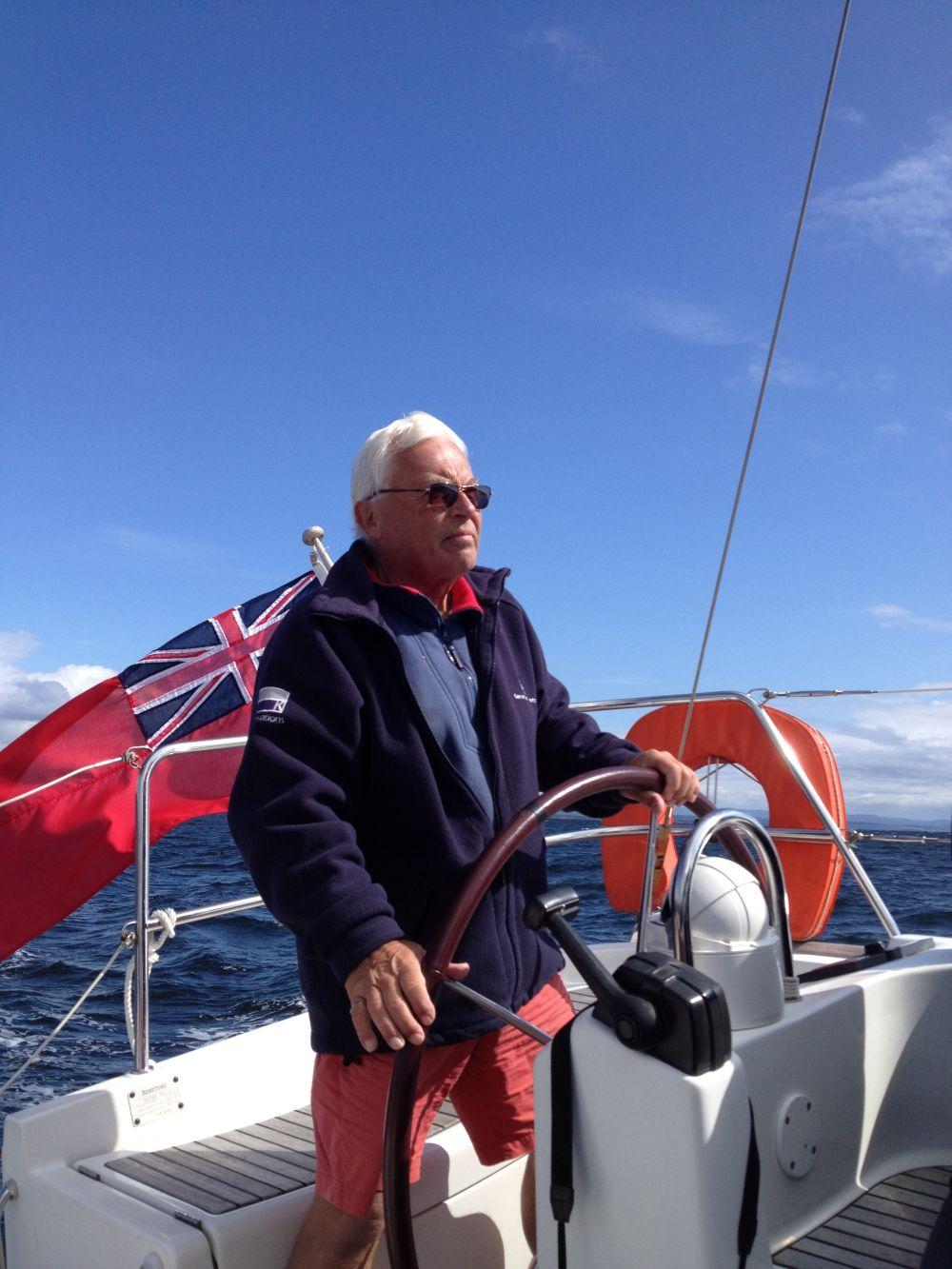 Mr P Senior at the Wheel